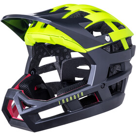 Kali Invader SLD Casco, matt fluo yellow/black